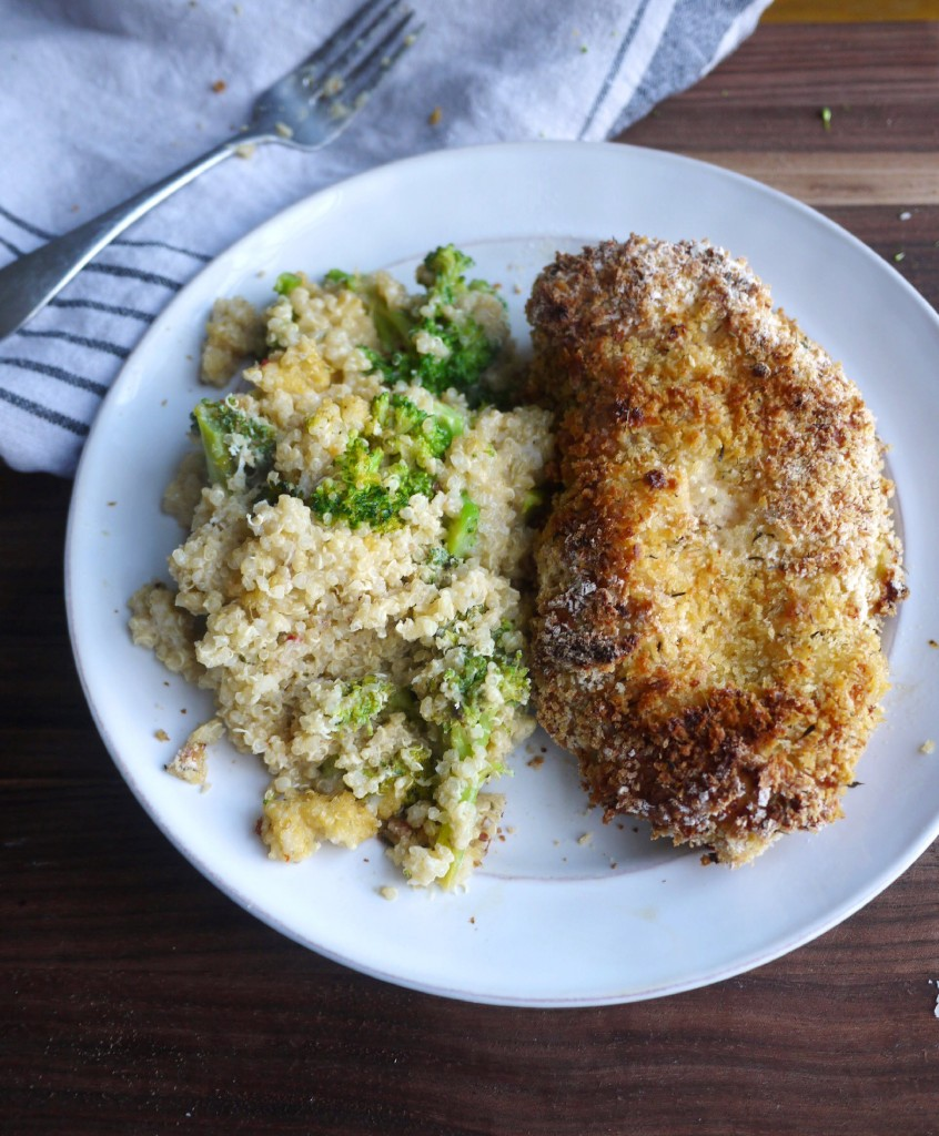 Double-Dipped Oven-Fried Chicken (DF) + Broccoli and Goat Cheese ...