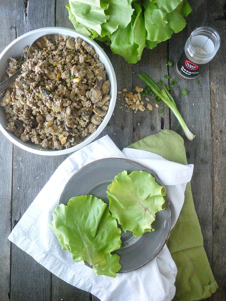 Paleo Asian-Style Turkey Lettuce Wraps 1
