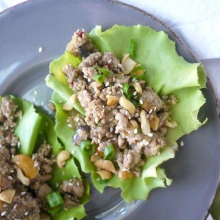 Paleo Asian-Style Turkey and Mushroom Lettuce Wraps