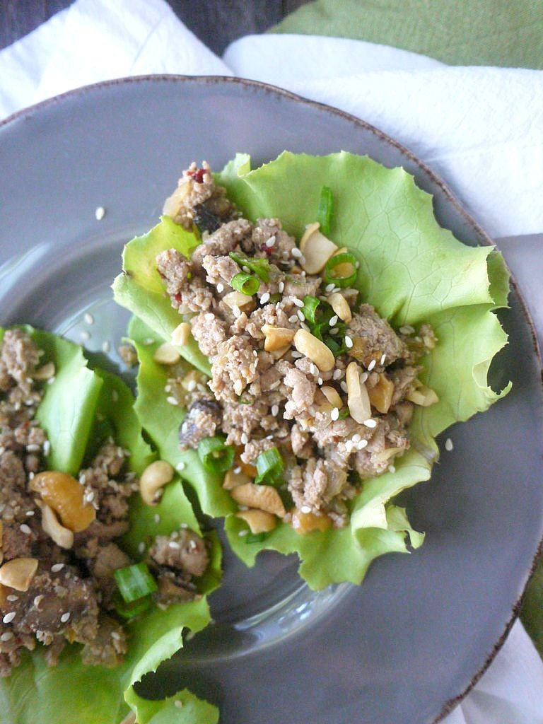 Paleo Asian-Style Turkey Lettuce Wraps 4