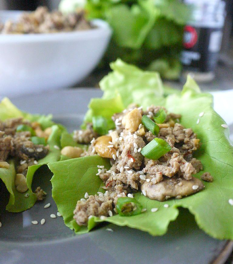 Paleo Asian-Style Turkey Lettuce Wraps 7