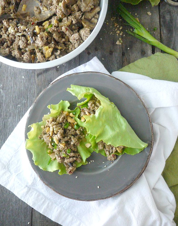 Paleo Asian-Style Turkey Lettuce Wraps 8