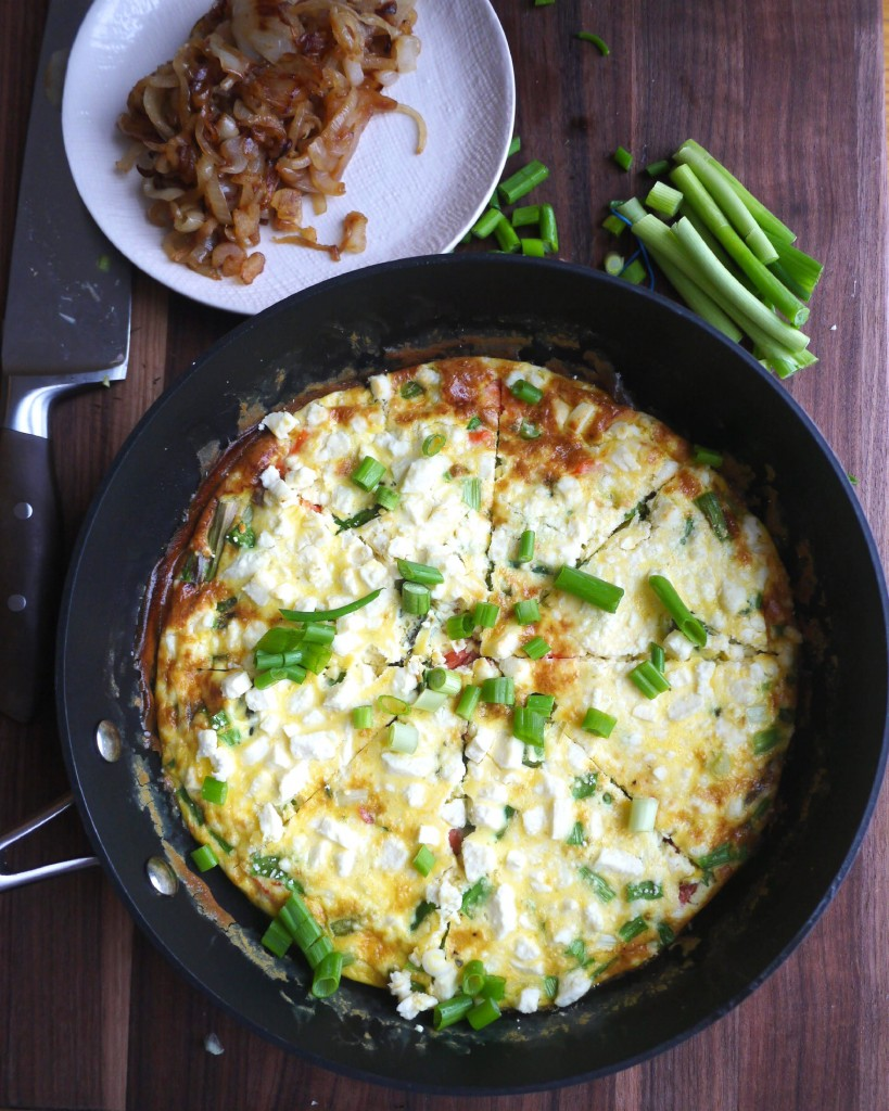 Smoked Salmon and Asparagus Frittata with Caramelized Onions