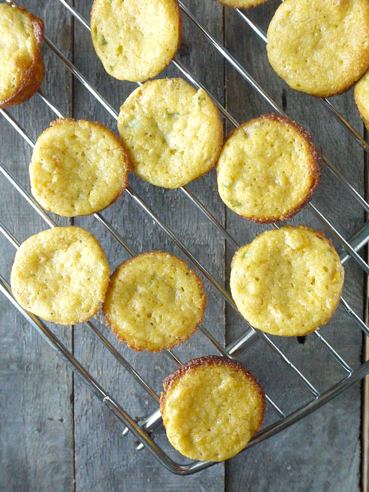 mini jalapeno cornbread cupcakes with honey butter frosting 1