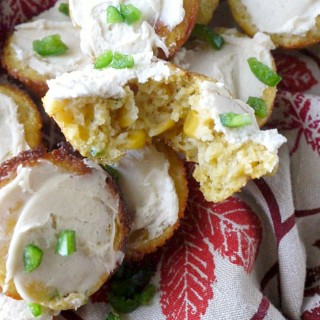 Mini Jalepeño Cornbread Cupcakes with Honey-Butter Frosting