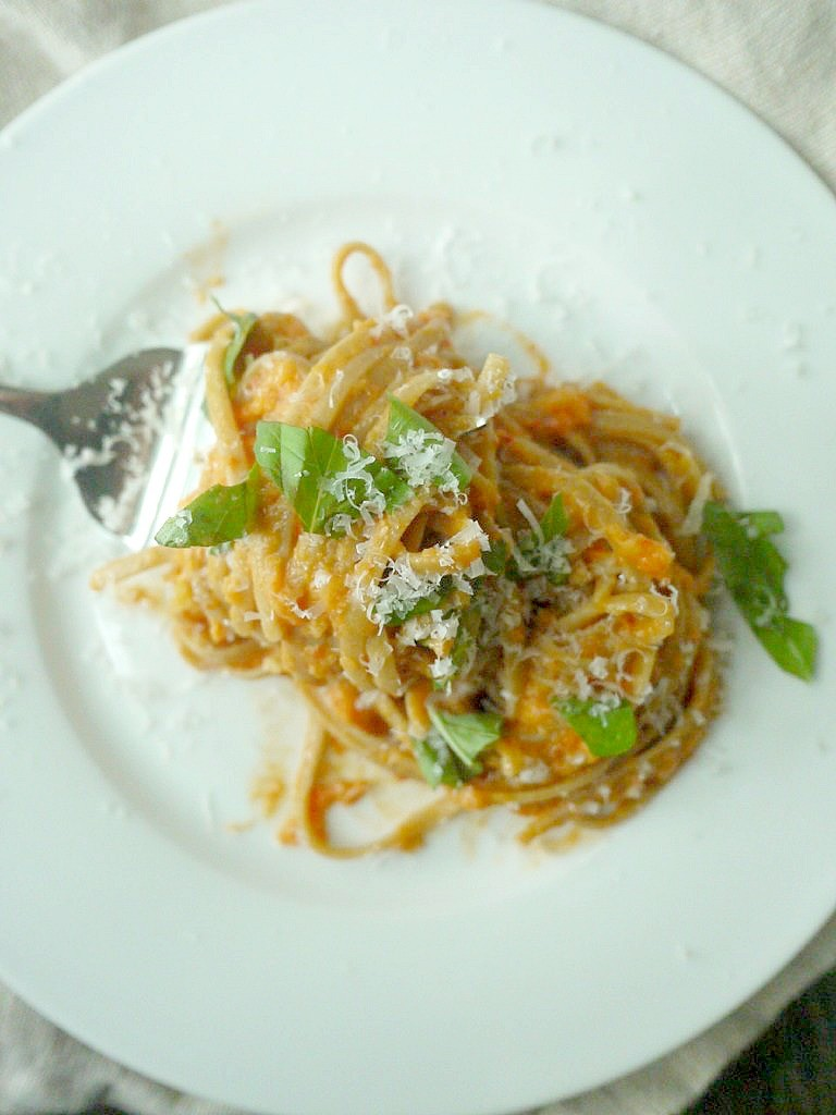 roasted red pepper, goat cheese and fennel pasta 11