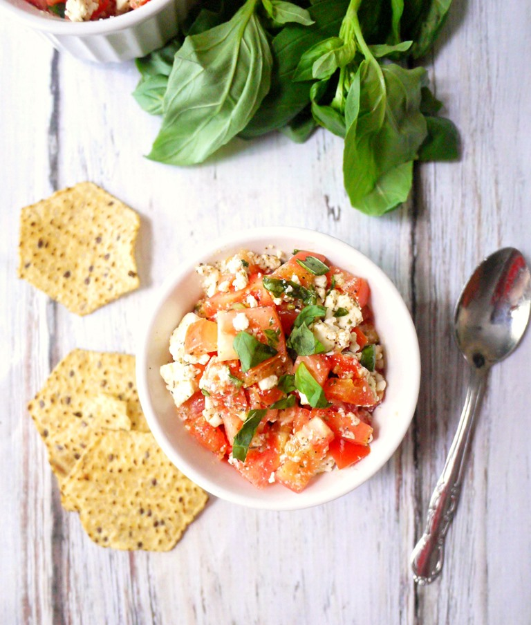 five-minute feta bruschetta dip 3