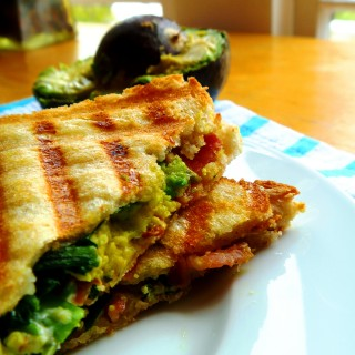 Bacon, Avocado and Goat Cheese Panini