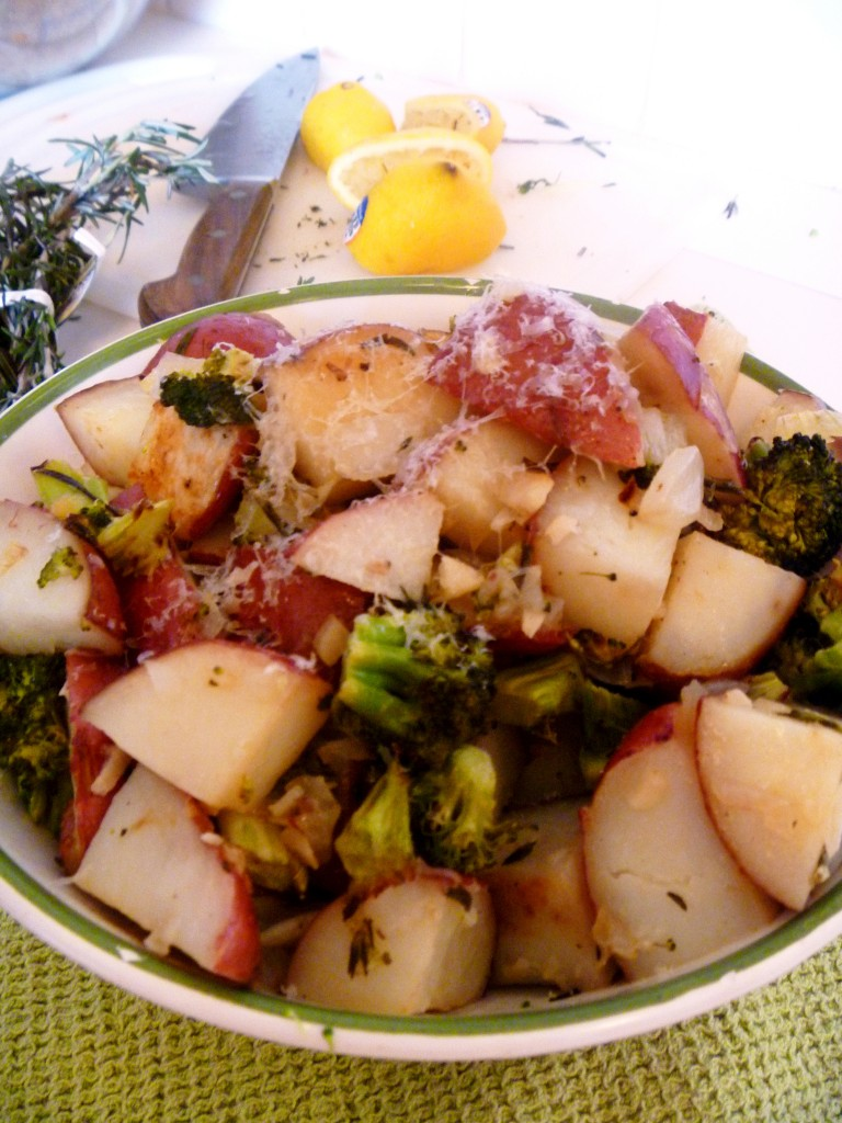 Roasted Potatoes Amp Broccoli W Lemon Butter Sauce Healthy