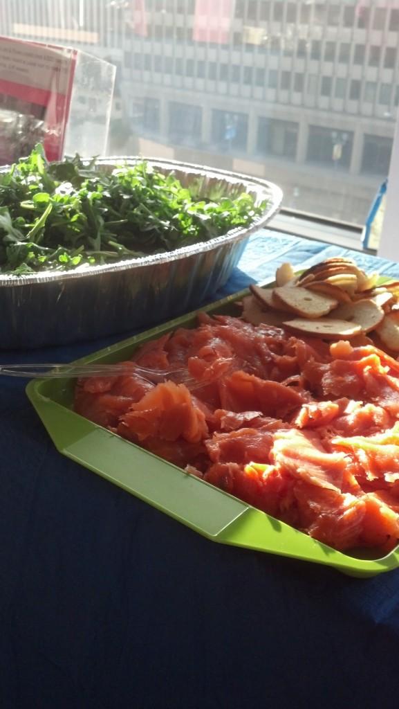 smoked salmon at JL