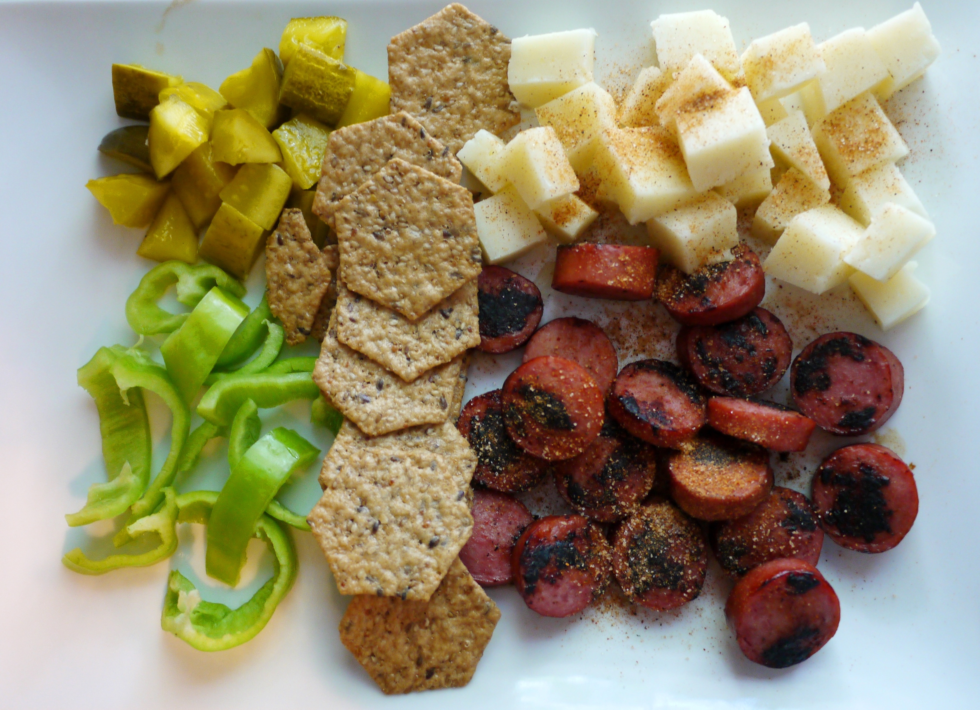 platter 2 redone & Memphis Makeover: Sausage and Cheese Plate