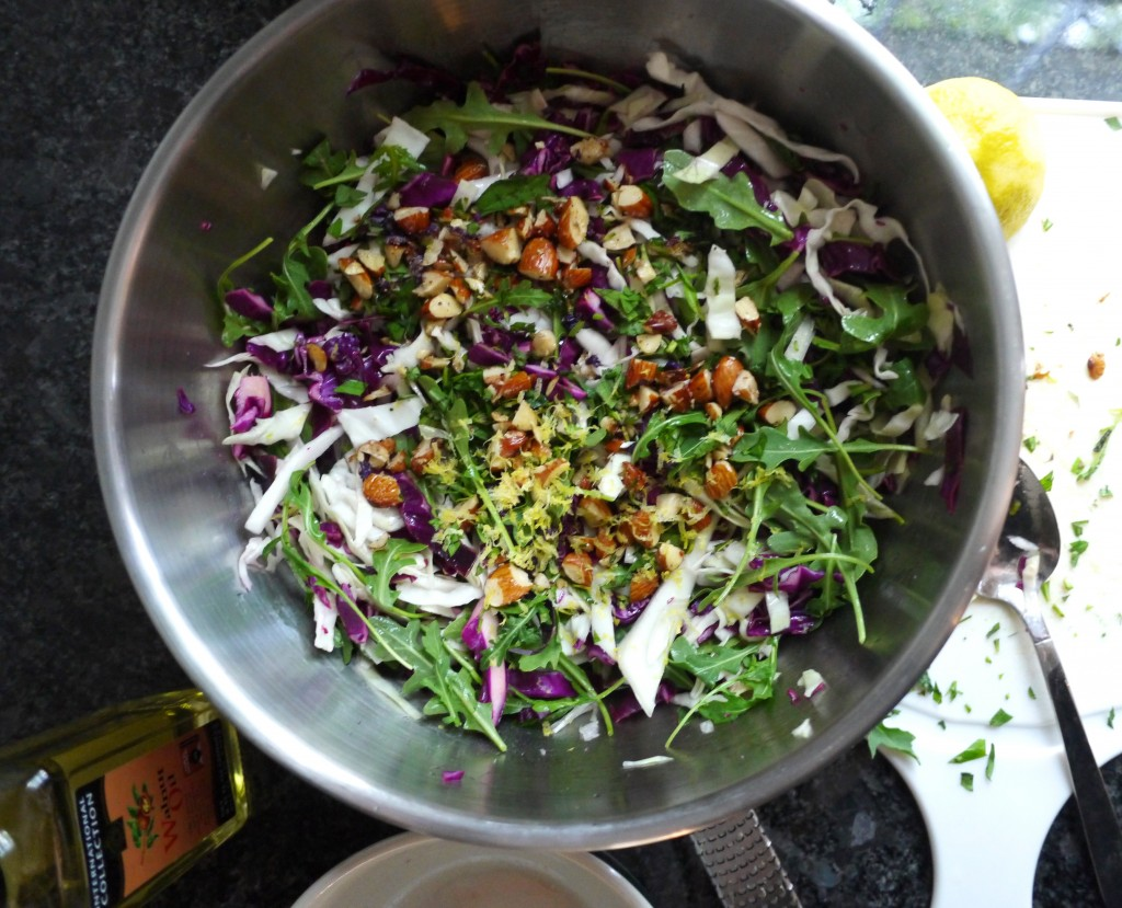 salad before mixing