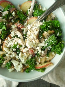 Chicken and Kale Salad with Bacon-Fried Apples and Walnuts 11 adjusted