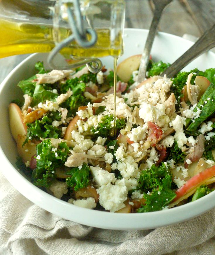 Chicken and Kale Salad with Bacon-Fried Apples and Walnuts 12 adjusted