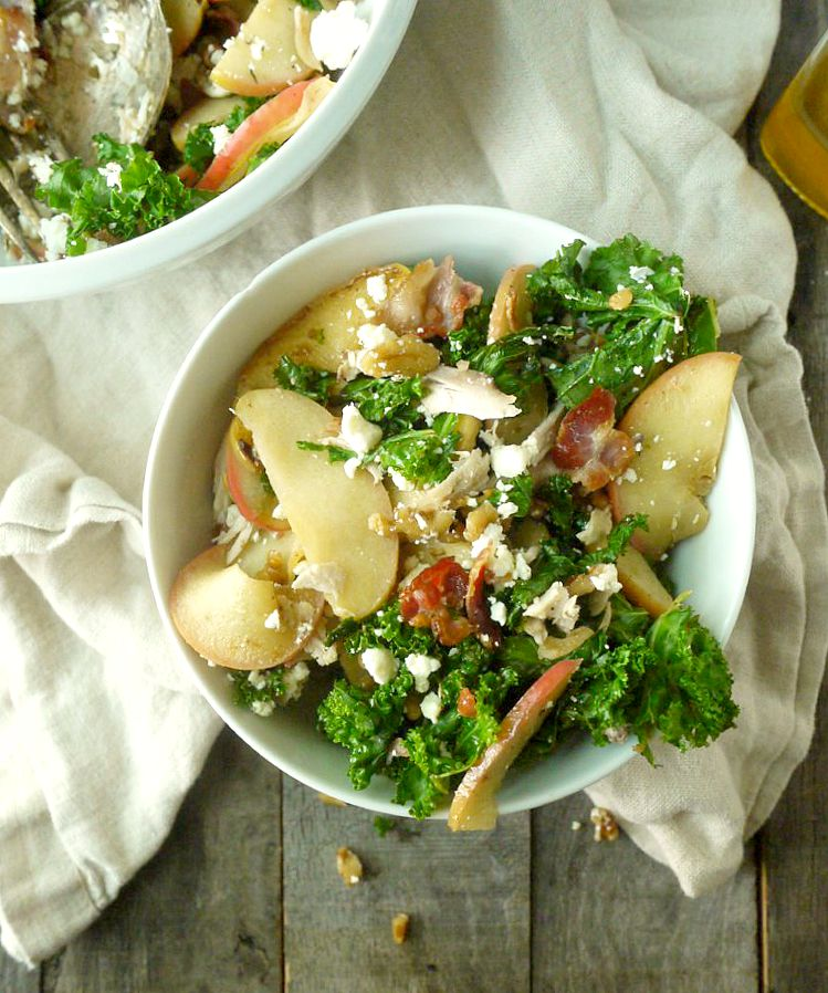Chicken and Kale Salad with Bacon-Fried Apples and Walnuts 13 adjusted