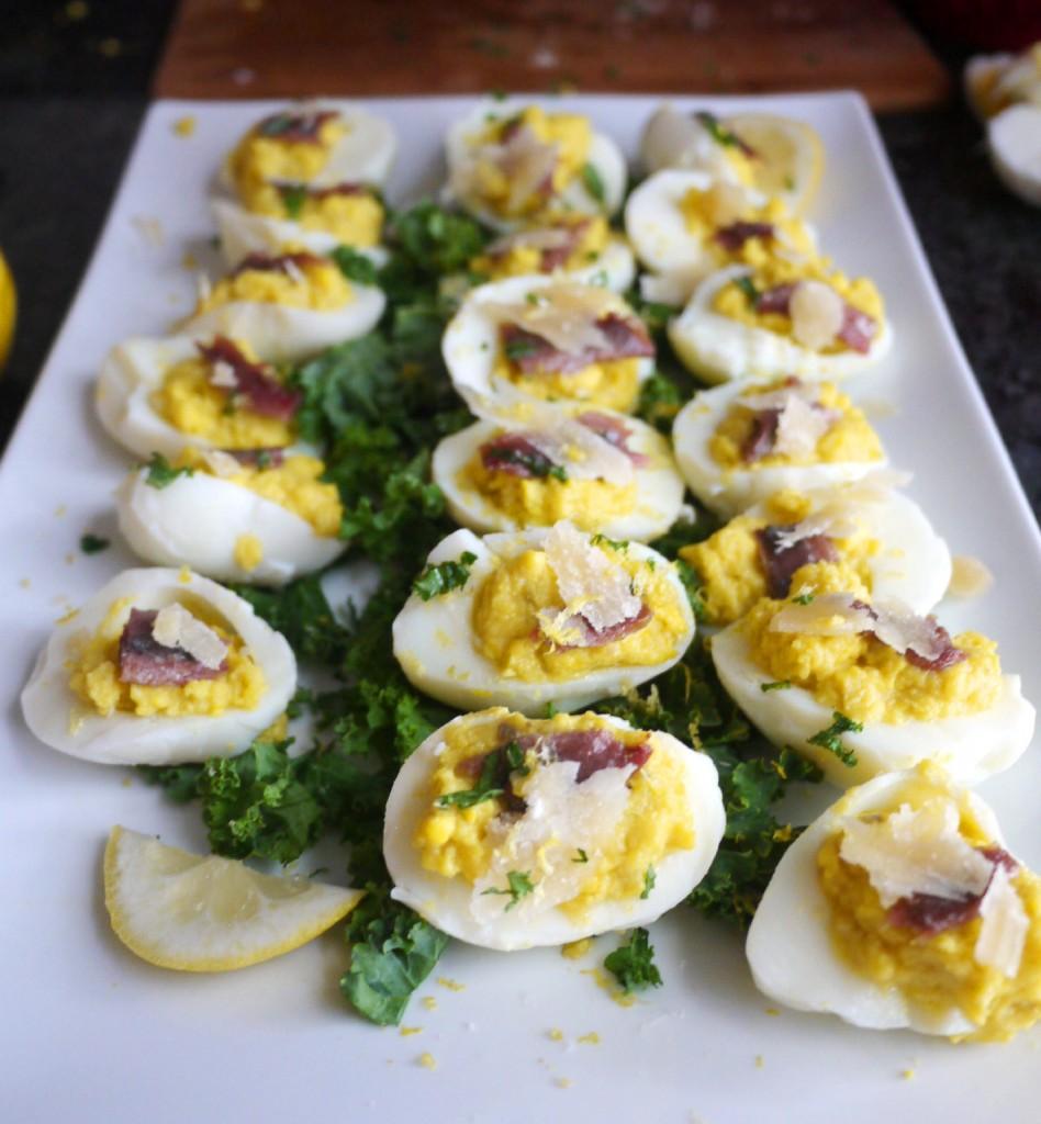 Caesar Salad Deviled Eggs Recipe — Dishmaps