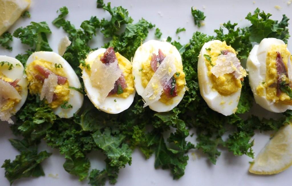 Caesar Salad Deviled Eggs