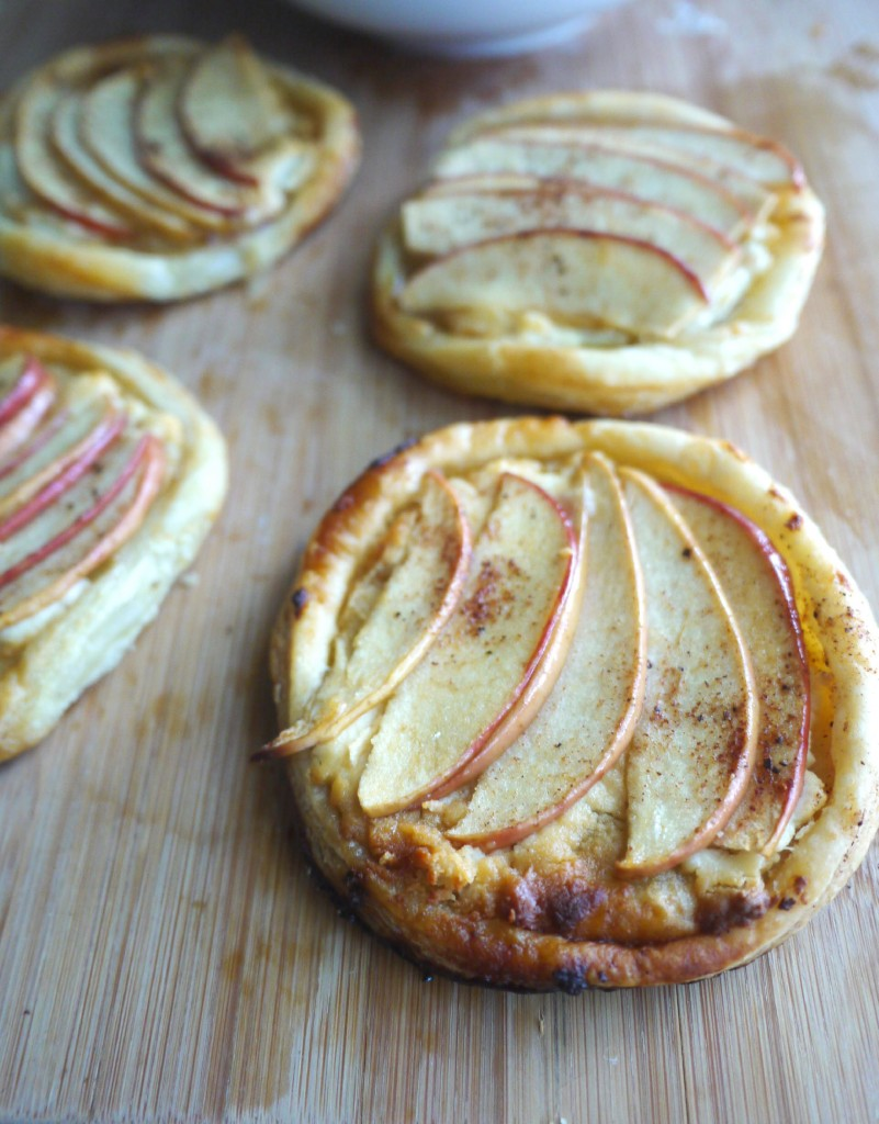 Apple, Goat Cheese, and Wildflower Honey Tartlets
