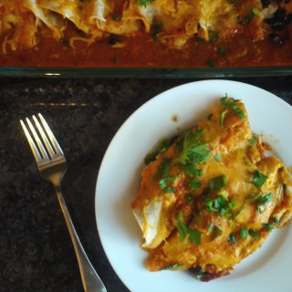 Vegetarian Black Bean Enchiladas