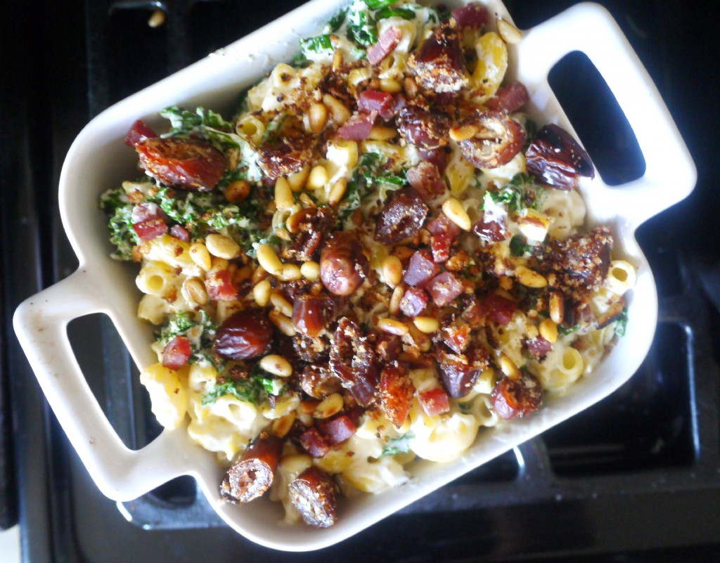 pasta with topping