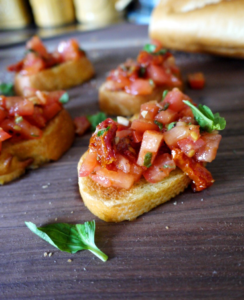 Double Tomato Bruschetta
