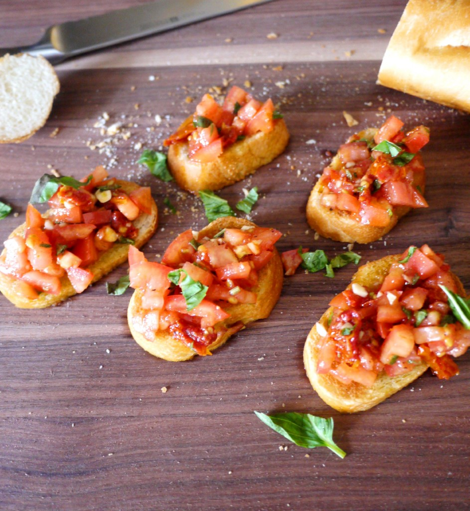 Double Tomato Bruschetta Recipe — Dishmaps