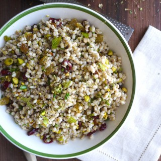 Start the New Year Off Right: Barley Salad with Cranberries, Pistachios and Ginger