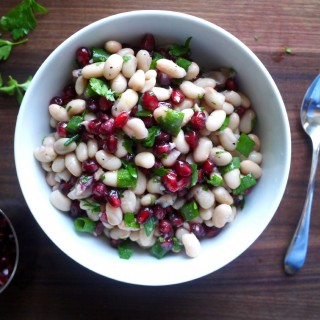 White Bean Salad with Pomegranate and Parsley