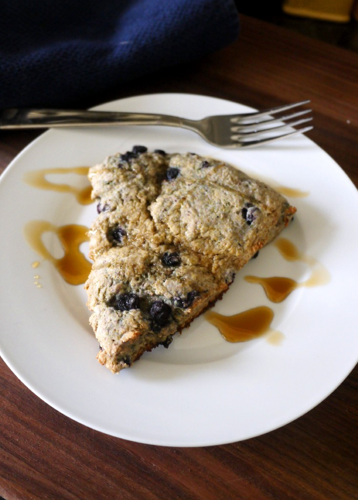 Vegan Blueberry Scones with Maple Drizzle – Trial #1