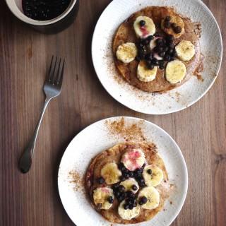 Detox Part 2: Almond Butter Banana-Blueberry Tortilla