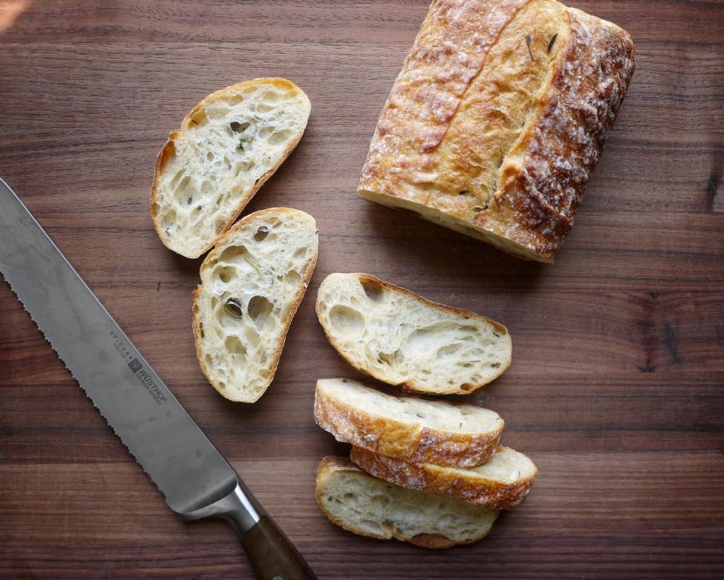 cutting bread