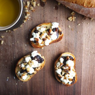 Goat Cheese, Fig and Walnut Tartine + Where in the World is HRx?