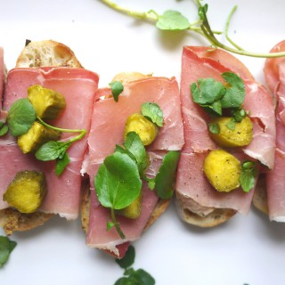 Not Your Average Ham Sandwich: Prosciutto & Mustard Tartine