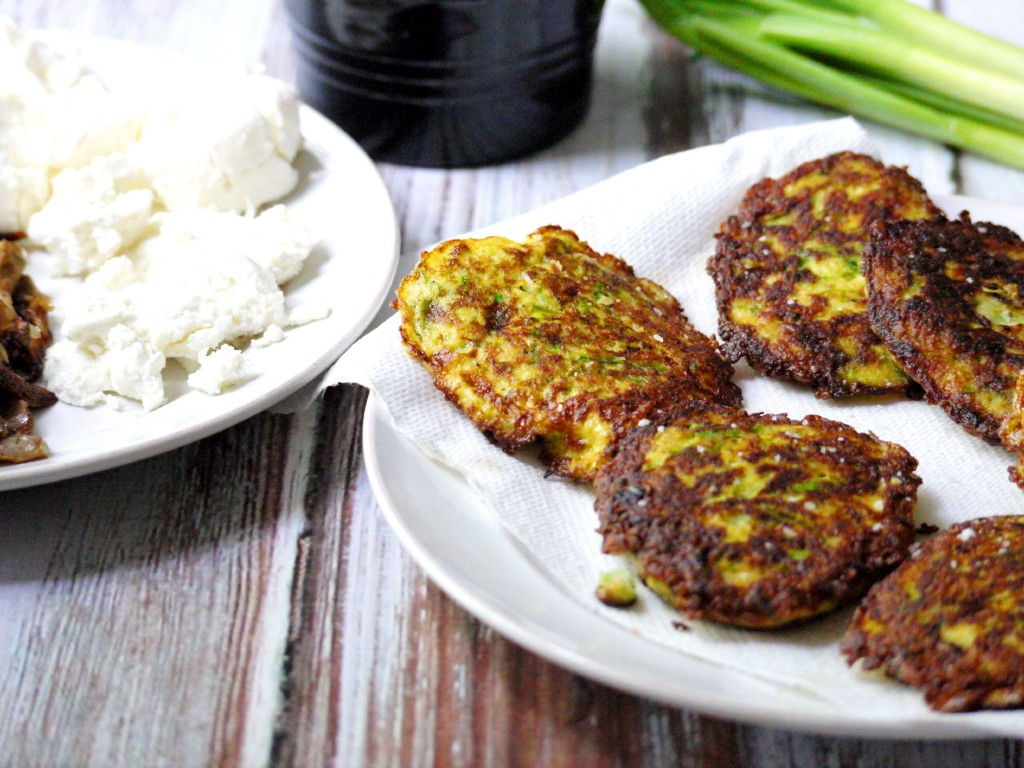 Zucchini Pancakes with Wild Mushrooms, Crumbled Goat Cheese & Garlic ...