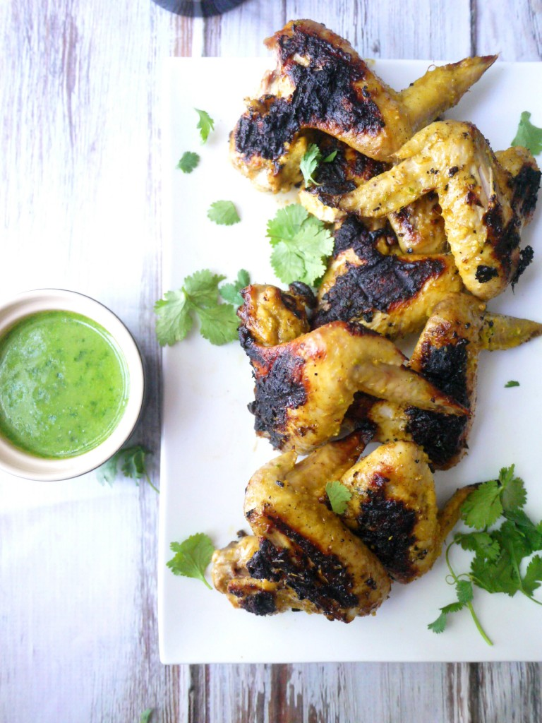 Char-Grilled Coconut and Lemongrass Chicken Wings with Green Chili ...
