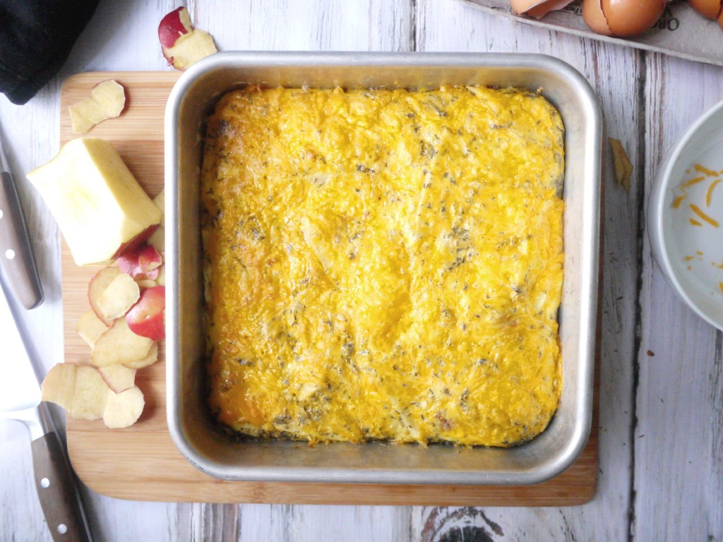 bacon cheddar apple baked frittata 7