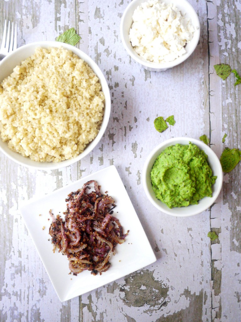 minty mushy pea quinoa 1