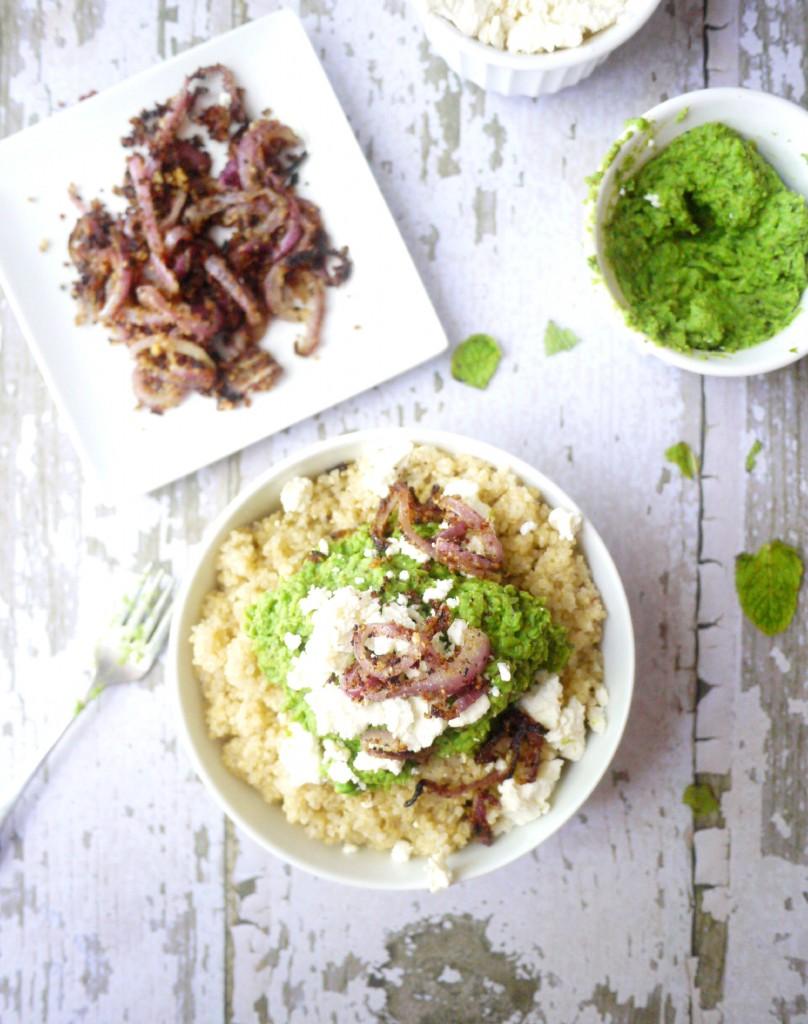 minty mushy pea quinoa 4
