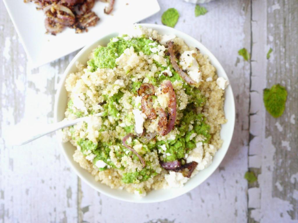 minty mushy pea quinoa 9