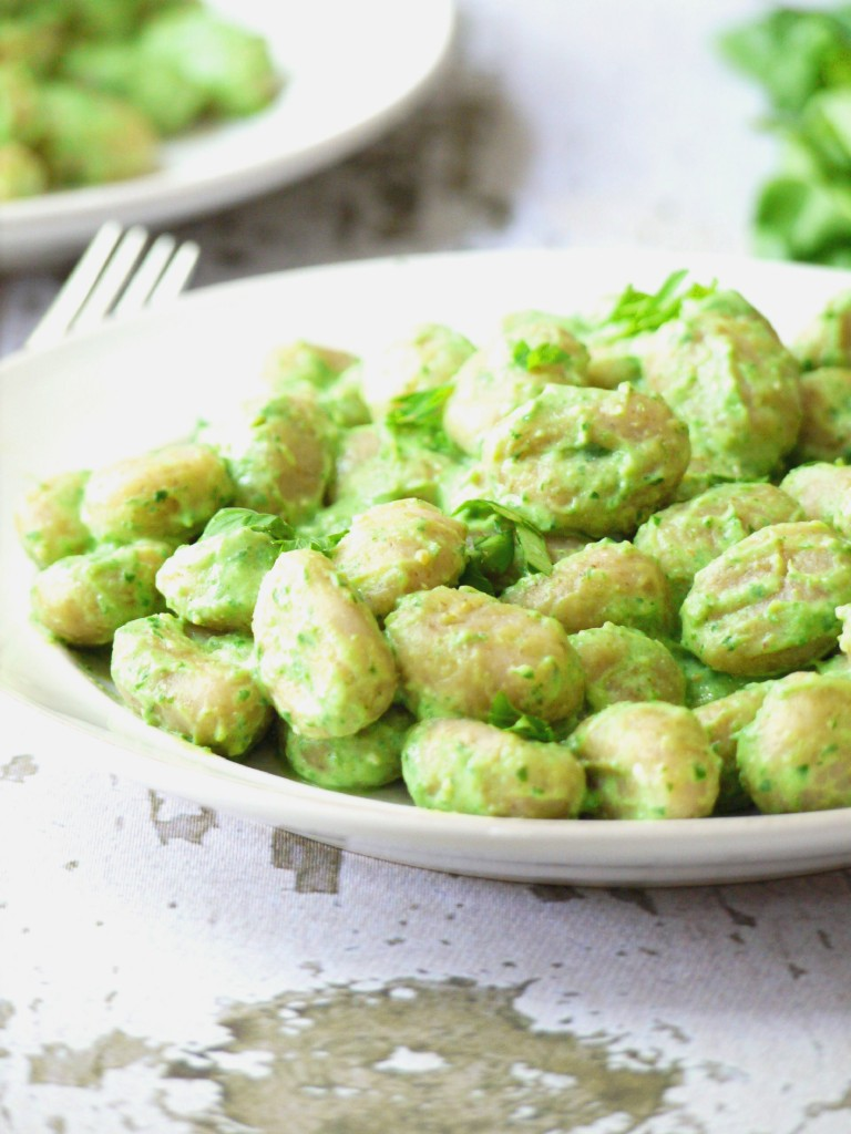 gnocci with creamy spinach sauce 2