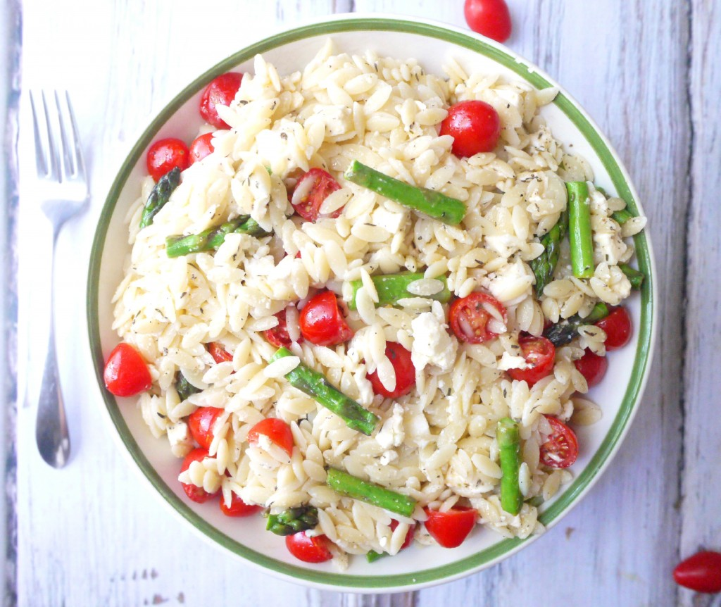 Summer Orzo Salad with Asparagus, Cherry Tomatoes and Feta + Healthy ...