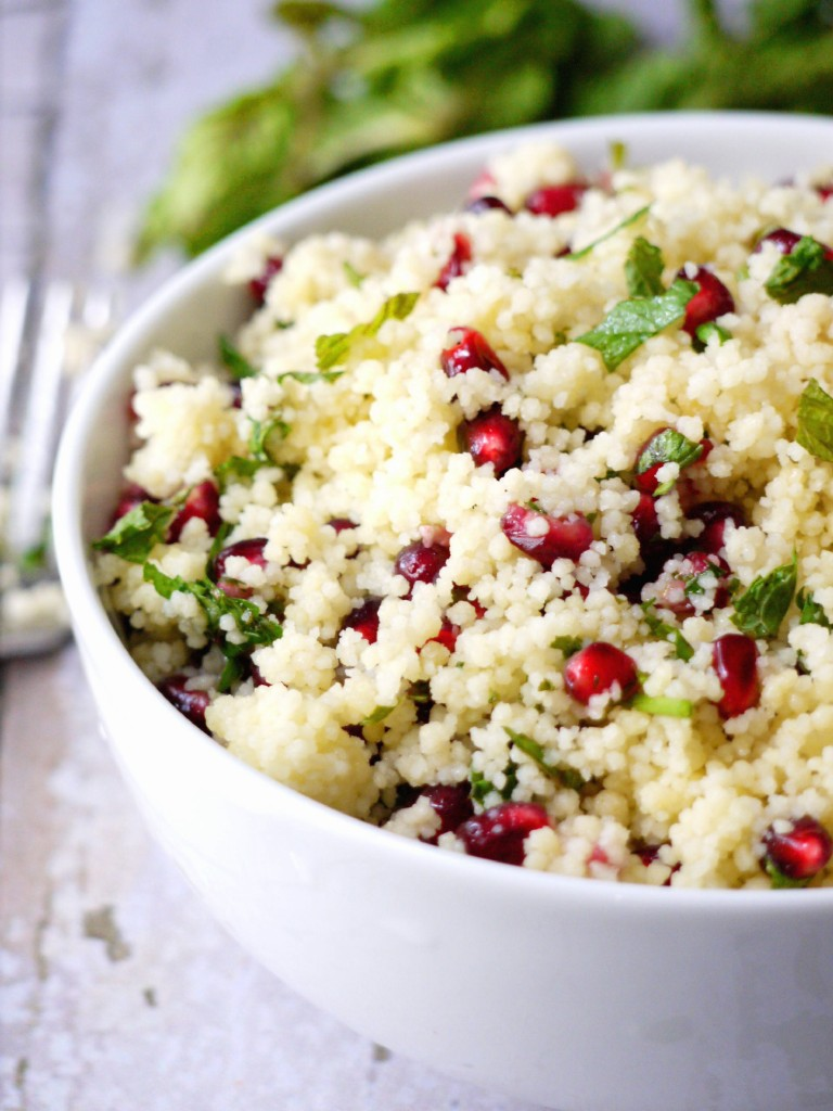 yellow couscous salad with pomegranate dressing 6