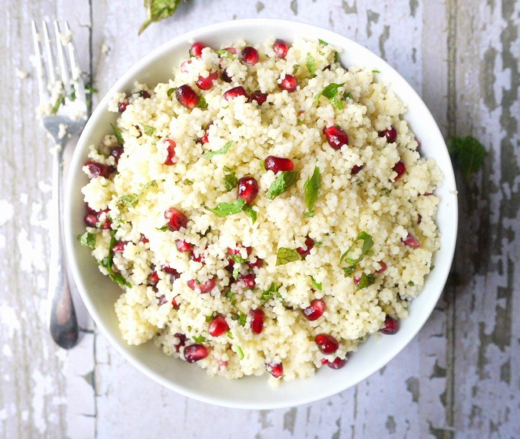 yellow couscous salad with pomegranate dressing 8