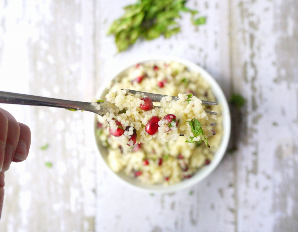 yellow couscous salad with pomegranate dressing 9