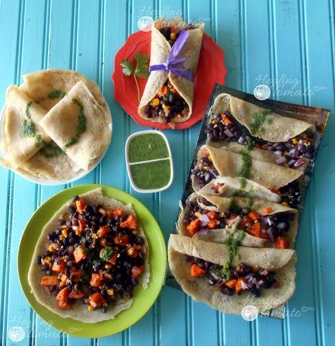 Mexican Crepe Tacos