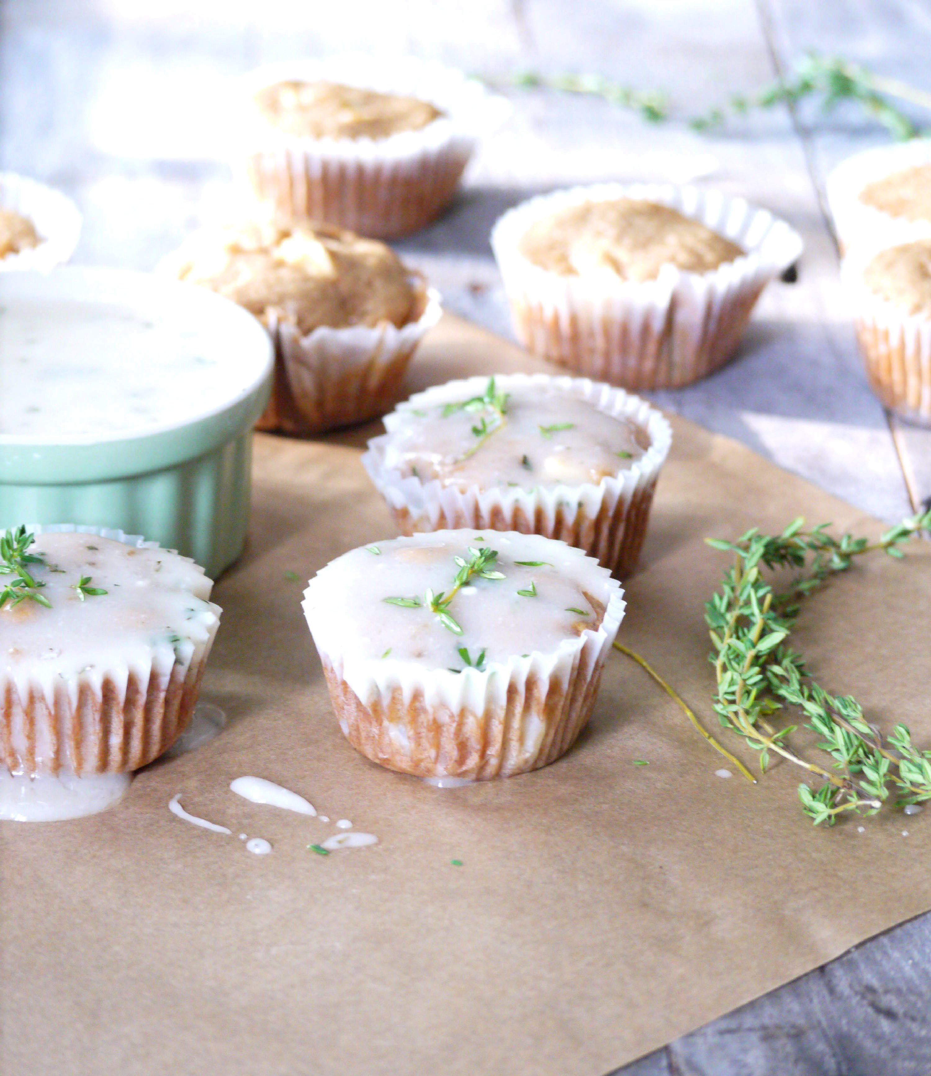 apple cupcakes with goat cheese thyme glaze 6
