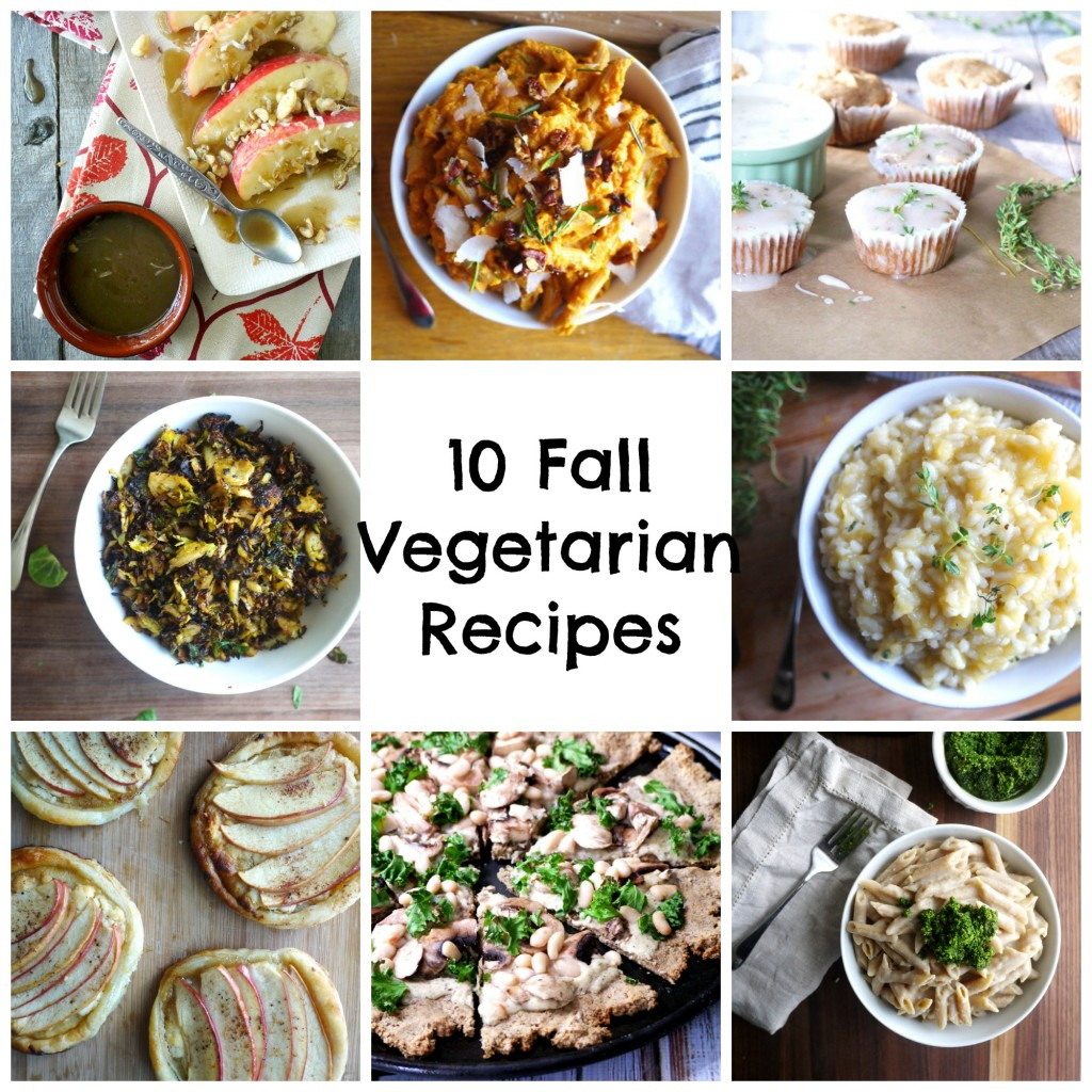 PicMonkey Collage 10 fall vegetarian recipes
