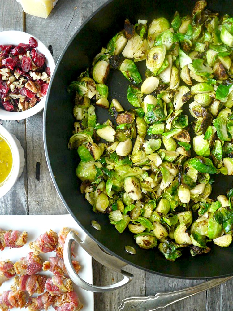 brussels sprouts salad with pancetta croutons 1 adjusted
