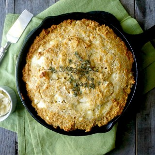 Gluten-Free Goat Cheese and Thyme Skillet Cornbread