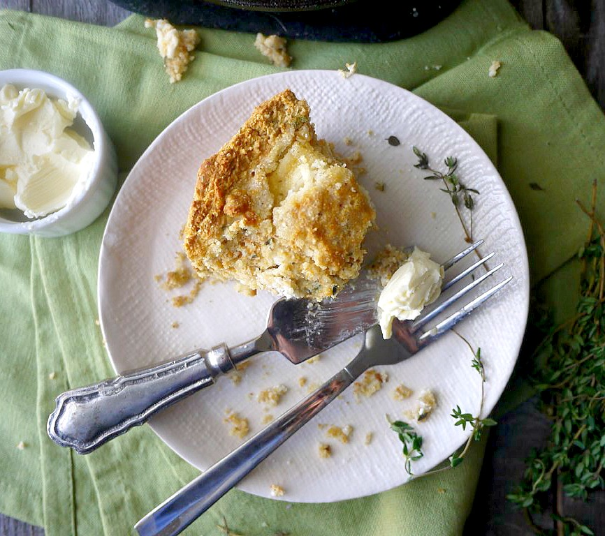 gluten-free goat cheese and thyme cornbread 6 adjusted